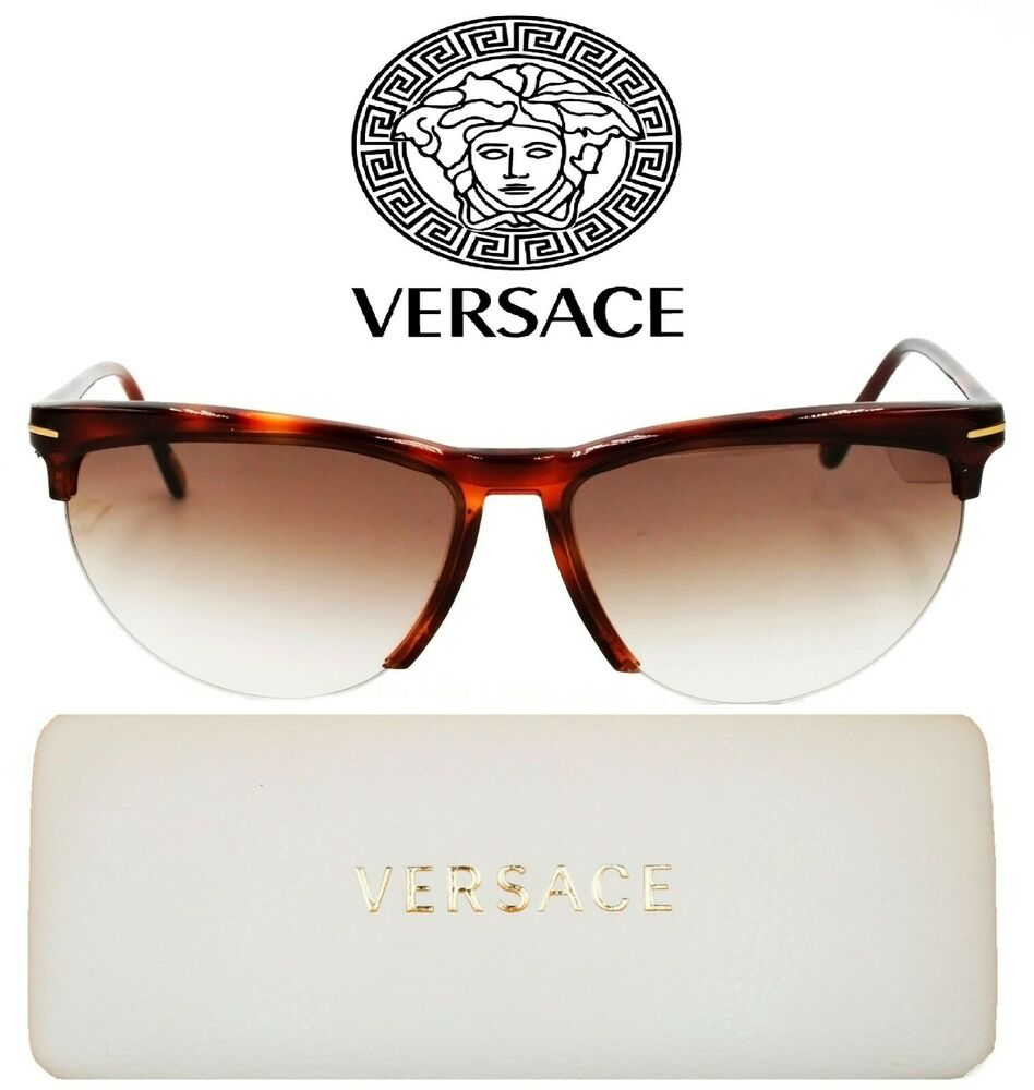 a61e5dbdf360 Details about EXTREMELY RARE VINTAGE NYLOR GIANNI VERSACE SUNGLASSES MADE  IN ITALY WITH BOX