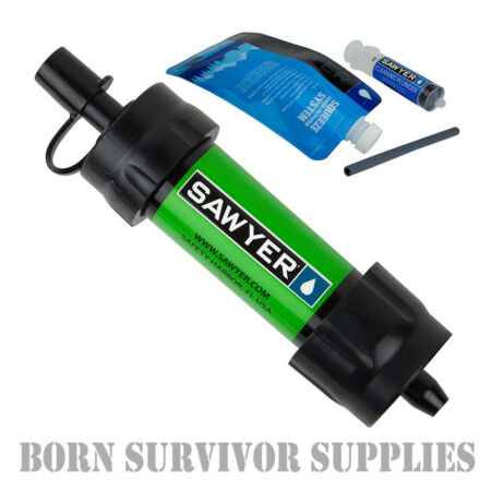 img-NEW SAWYER MINI WATER FILTER KIT GREEN - Filtration Survival Purification Straw