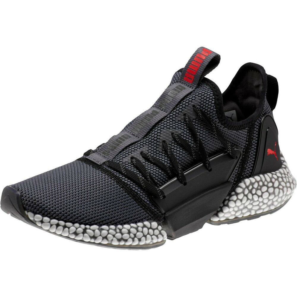 Details about New Puma Hybrid Rocket Runner Mens Running Shoes Iron Grey  Black Red 191592-14 d02ed6d84