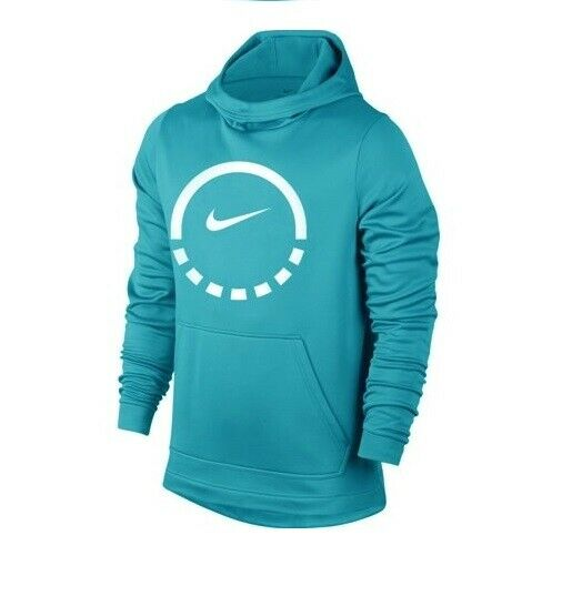 87cd544abfdf Details about NEW Nike Therma Mens Size S Basketball Hoodie Sweatshirt  856478 433 Light Blue