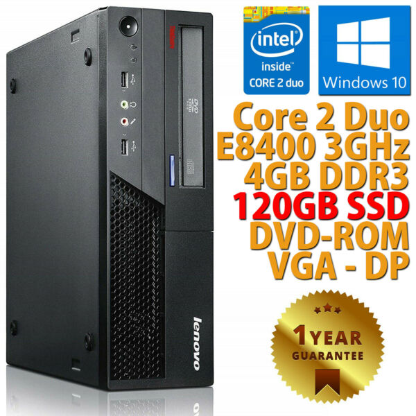 PC COMPUTER DESKTOP RICONDIZIONATO FUJITSU DUAL CORE 4GB SSD 120GB WINDOWS 10
