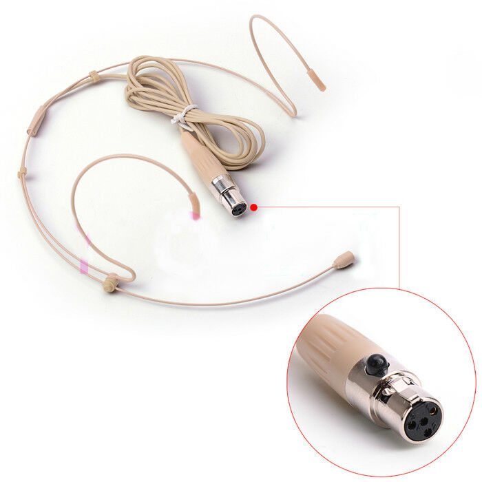 Live Equipment Discreet Omnidirectional Single Ear Hook Hanging Condenser Headset Microphone For Shure Wireless Body-pack Transmitter Mini Xlr 4pin Consumer Electronics