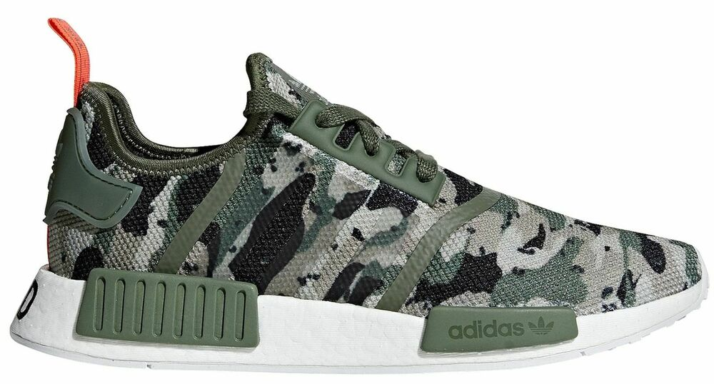 775acc503 Details about NEW Adidas NMD R1 Men s 11 Shoes Camo Olive Green Orange  Nomad Boost G27914