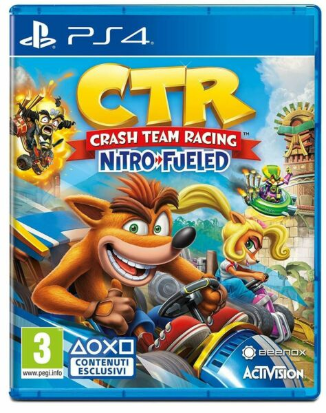 CRASH TEAM RACING NITRO-FUELED PS4 GIOCO PLAY STATION 4 ITALIANO CTR KART NUOVO