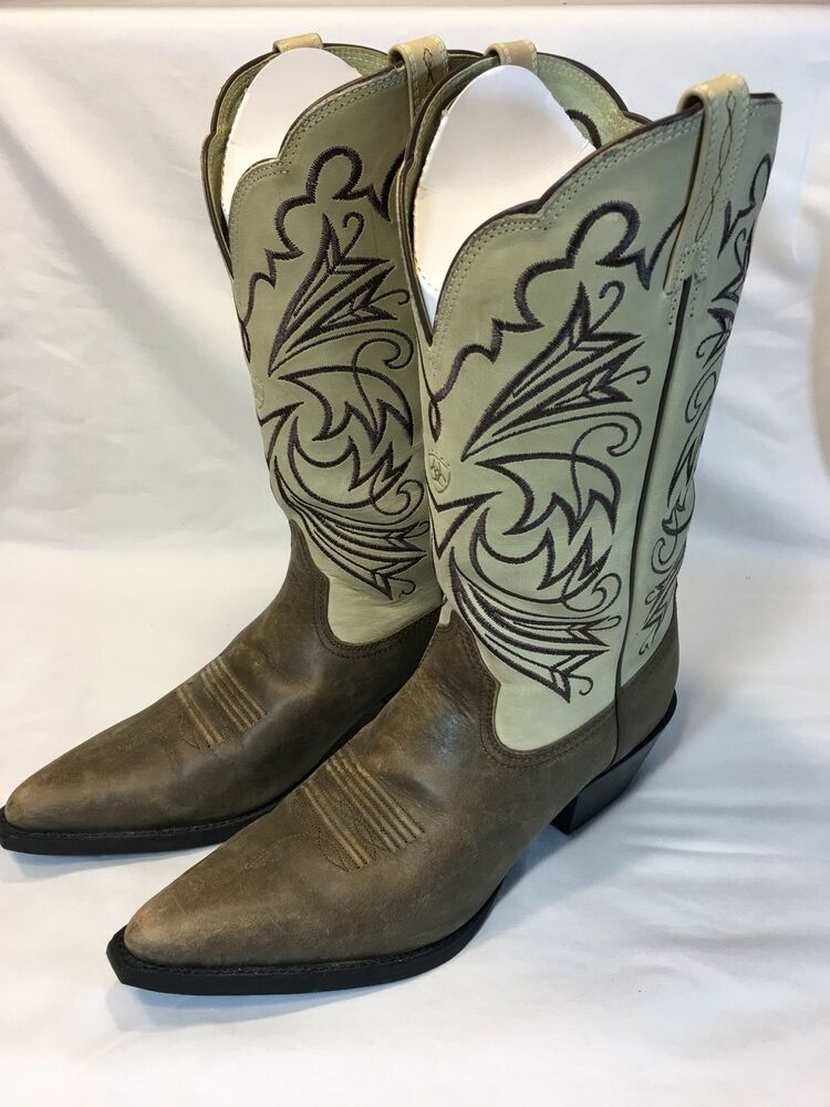 14d858a27e8 Details about NEW Ariat Women's Brown Tan Stitched Western Cowboy Cowgirl  Boots Size 10 B