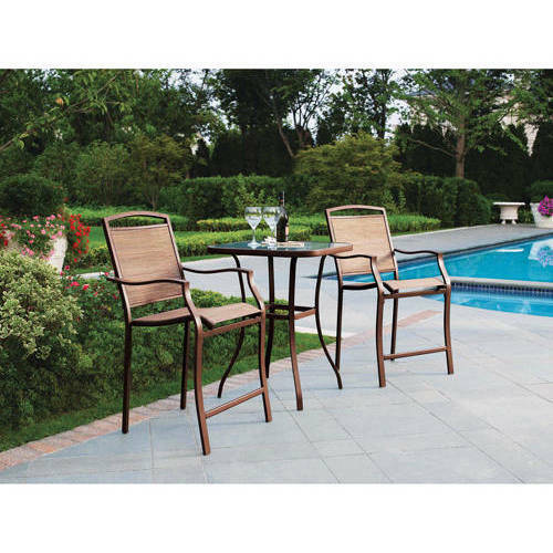 Details about Outdoor Bistro Set Bar Height Patio Chairs And Table Backyard Deck Furniture  sc 1 st  eBay & Outdoor Bistro Set Bar Height Patio Chairs And Table Backyard Deck ...