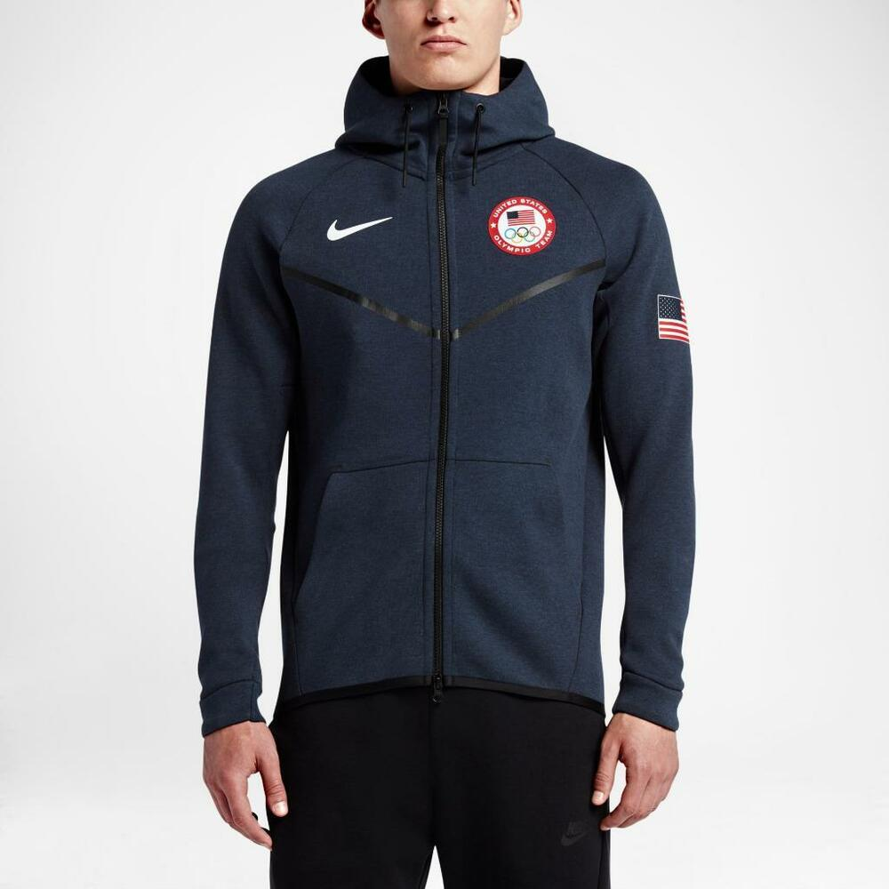 0affd1348301 Details about NEW NIKE TECH FLEECE WINDRUNNER HOODIE TEAM USA 2016 OYMPICS  807610-473 SMALL