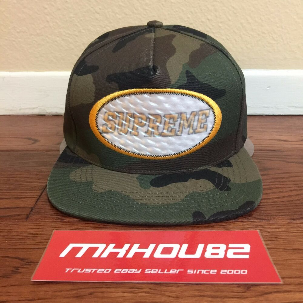 fec47bd66d2 Details about New Supreme Overlay Hologram 5-Panel Cap Hat Woodland Camo  Camp Fall Winter 2016