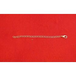 4 INCH  GOLD PLATED 4MM NECKLACE EXTENDER WITH 12MM LOBSTER CLAW CLASP