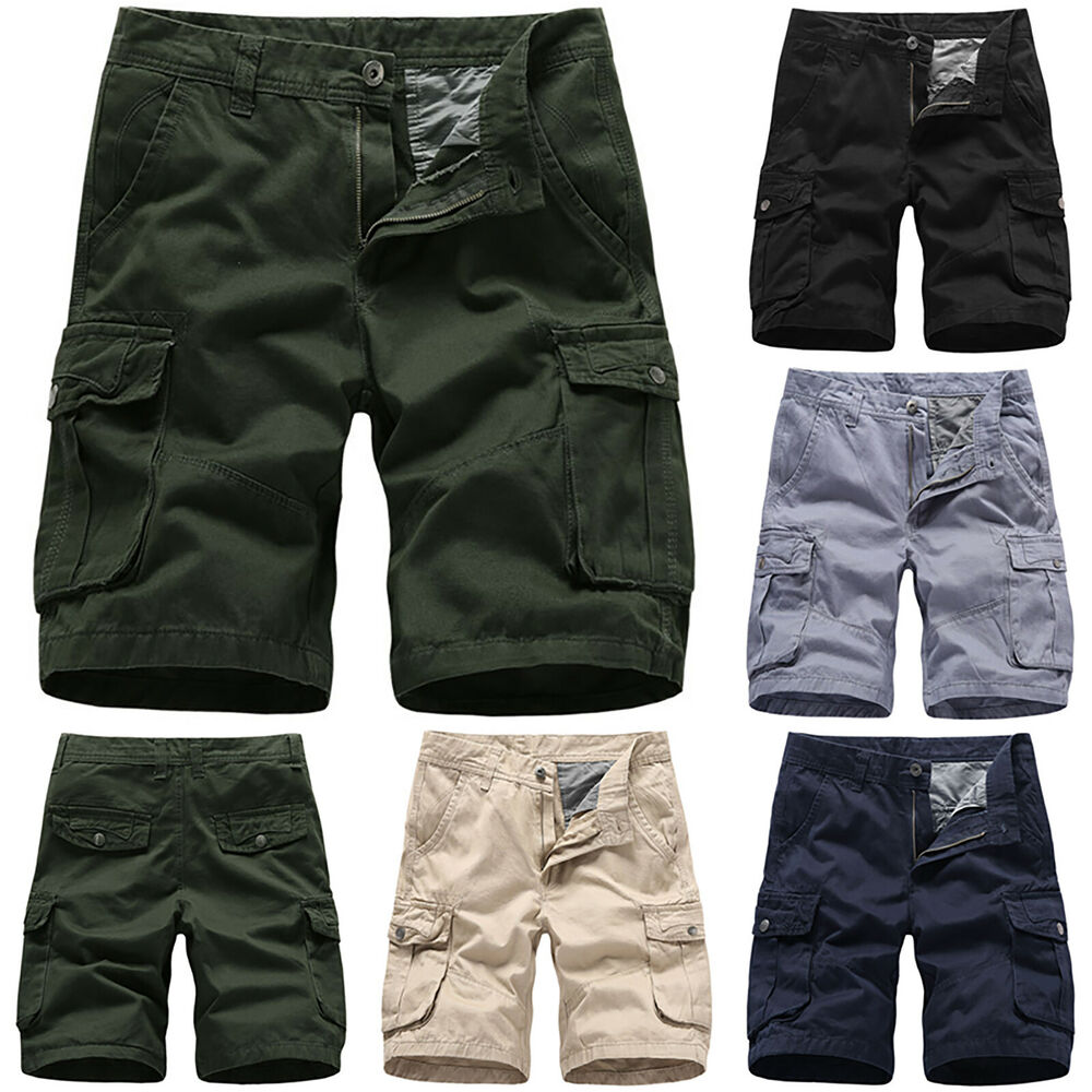 7ecd48c400 Details about Mens Shorts Sports Casual Short Pants Trousers Military Army  Cargo Summer Pocket