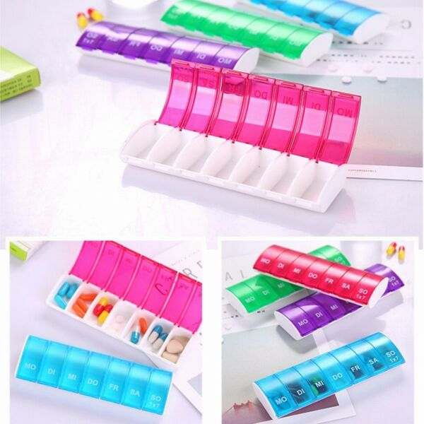 1PCS Weekly Daily Pill Holder Box Organiser Tablet Medicine Storage Dispenser