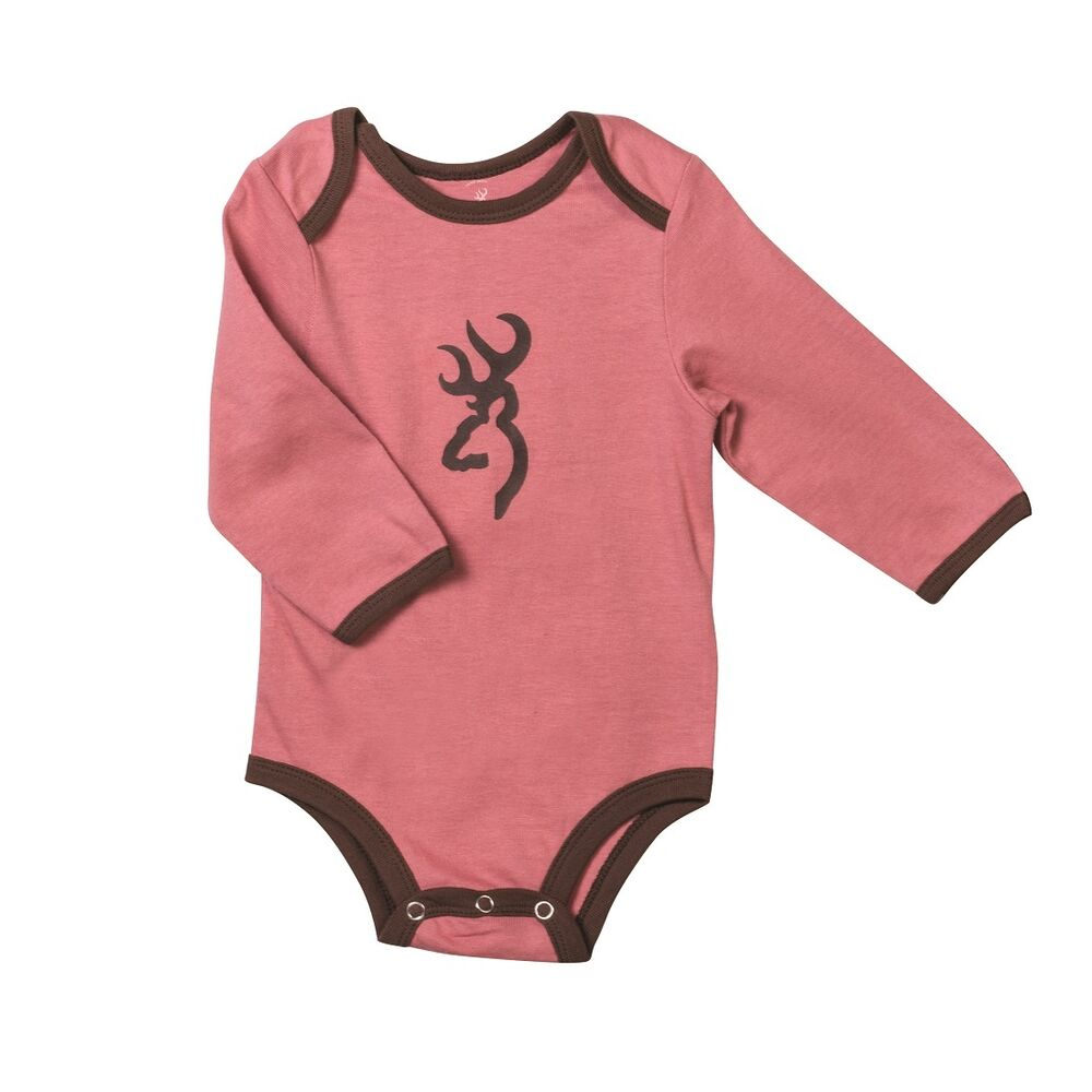 e09750dbe9c27 Details about Browning Buckmark Dusty Rose Pink Baby Infant Bodysuit - Snap Creeper  Shirt