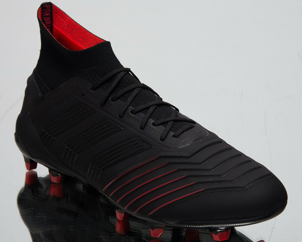 498aaafb Details about adidas Predator 19.1 FG Men's New Black Red Soccer Football  Cleats BC0551
