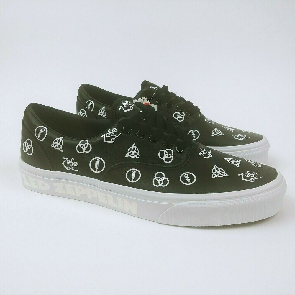 84998602dc76 Details about Vans x Led Zeppelin Era Limited Edition Leather sneakers Size  9 Mens In Hand