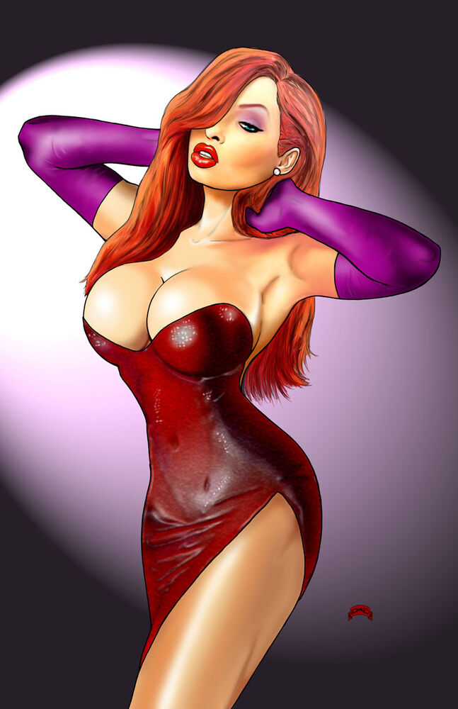 Jessica Rabbit Cartoon Sexy Who Framed Roger Hot 11X17 -8395