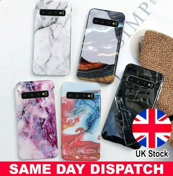 Case For Samsung Galaxy S10E S9 S8 + Marble Shockproof Silicone Protective Cover