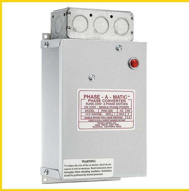 pam 300 1 3 hp 220 vac phase a matic phase converter. Black Bedroom Furniture Sets. Home Design Ideas