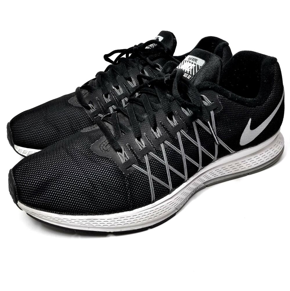 check out 6be74 3d26b Details about Nike Air Zoom Pegasus 32 Mens Size 9 Black Silver White  Sneakers 806576-001