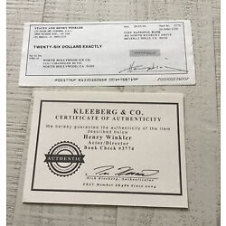 Kyпить Henry Winkler Signed Check Rare Item COA Authentic на еВаy.соm