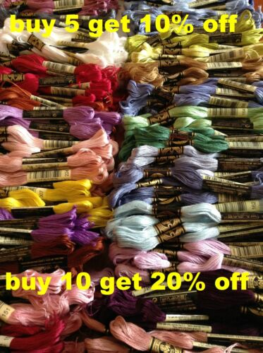 DMC Mouliné Stranded Cotton Thread 762 - 899 Free Postage when you buy 3+