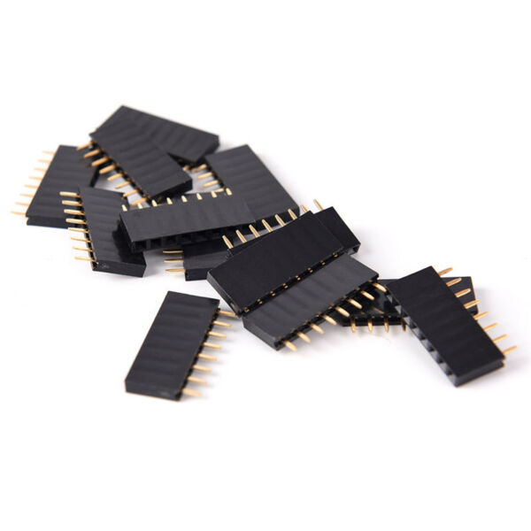 10Pcs 8 Pin Female Tall Stackable Header Connector Socket For Arduino JDUKHGUK