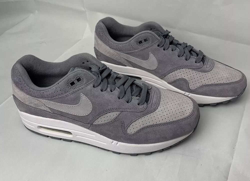 finest selection 882a4 7ec0a Details about NIKE AIR MAX 1 PREMIUM COOL GREY WOLF SUEDE SIZE 8 SHOES NEW  875844-005