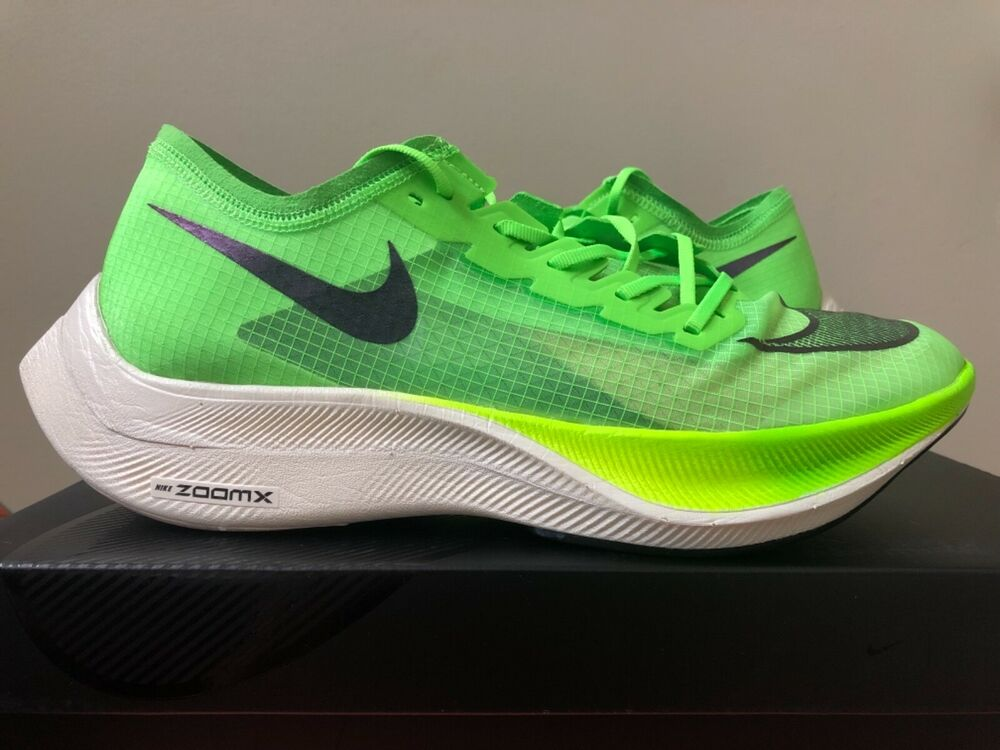 7c51bf8405da2 Nike ZoomX Vaporfly NEXT% Electric Green Black 6.5-12 AO4568-300 100%  Authentic