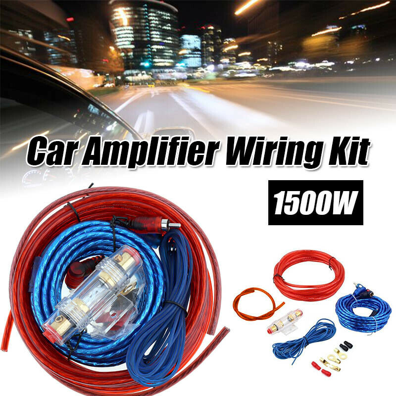 Fabulous 1500W Car Amplifier Wiring Kit Audio Subwoofer Amp Rca Power Wiring Cloud Pimpapsuggs Outletorg