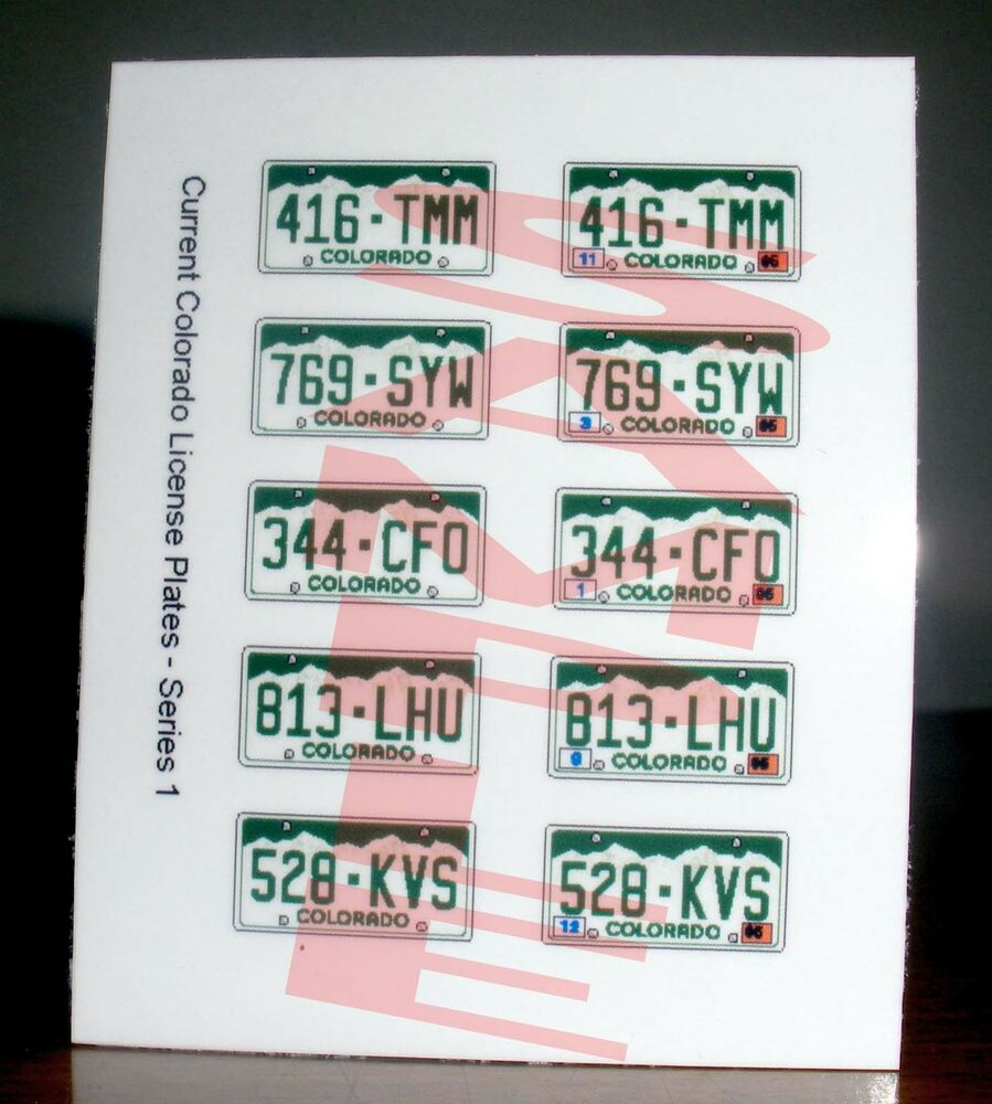 Details about current style colorado miniature license plates for 1 25 scale model cars