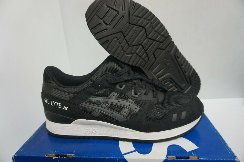 Asics Homme Gel Lyte III Chaussures Course Noir Blanc Taille 10.5 US | eBay