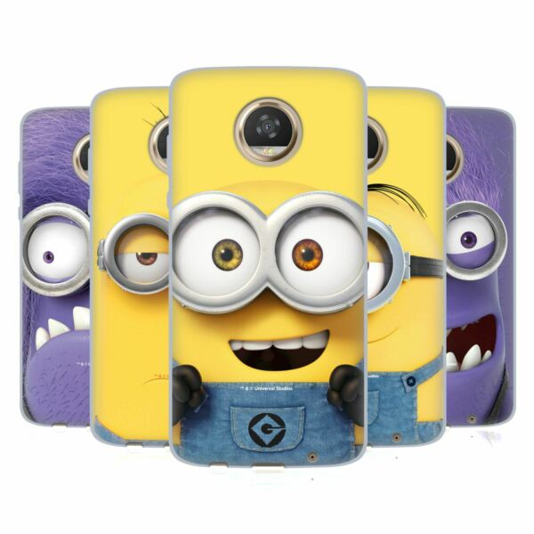 OFFICIAL DESPICABLE ME FULL FACE MINIONS SOFT GEL CASE FOR MOTOROLA PHONES