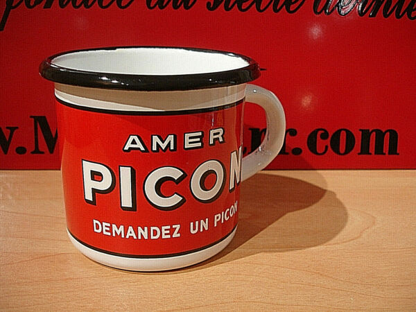 Reclameborden, reproducties PLAQUE EMAILLEE TASSE cafe mug MERCEDES BENZ AUTO  enameled COFFEE CUP EMAIL
