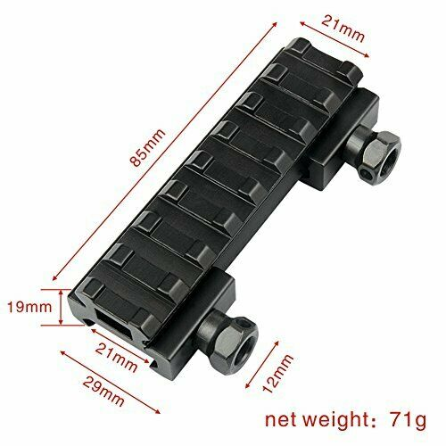 21mm Rail Extension Weaver Picatinny Riser adaptateur Rallonge de montage base