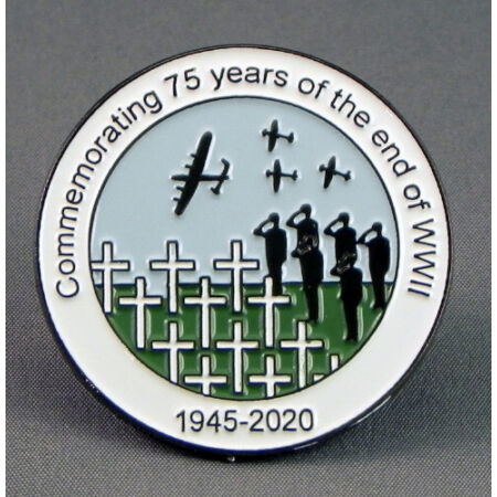 img-75th Anniversary end of WW11 War 1945-2020 PIN BADGE