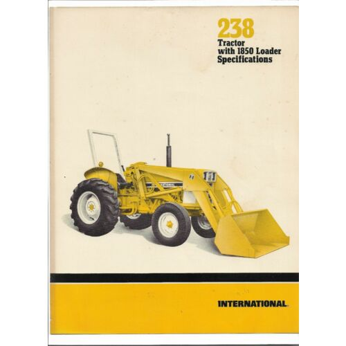 original-oe-international-238-tractor-with-1850-loader-sales-brochure-ad50565h