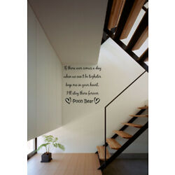 Winnie The Pooh Heart Forever Quote Vinyl Wall Decal Sticker Nursery Room Decor