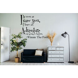 Winnie The Pooh Adventure AS Soon AS I Saw You Quote Vinyl Wall Decal Lettering