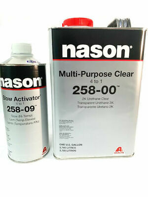 Nason Multi-PurposeClear 258-00 2K Urethane Kit with High Temp Activator