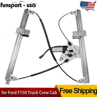 Window Regulator w/ Motor for Ford F150 Truck Crew Cab Front Driver Side 741-428