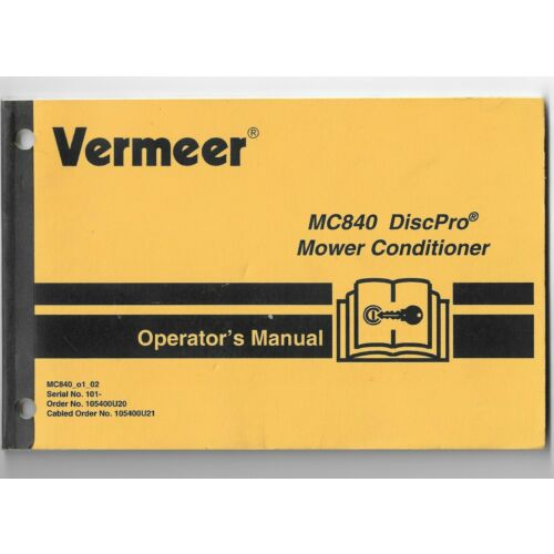 original-oe-vermeer-mc840-disc-pro-mower-conditioner-operators-manual-105400u20