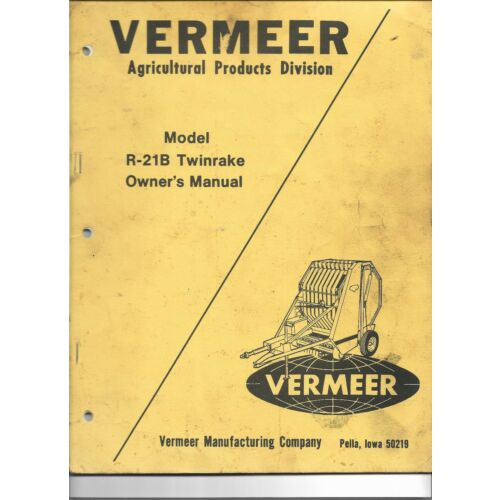 original-oe-oem-vermeer-r21b-twinrake-owners-operators-manual-579apm1