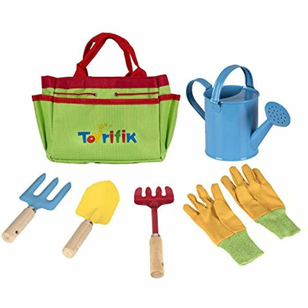 Gardening Tools Little Gardener Set Bag For Kids - Kit Includes Watering Can,