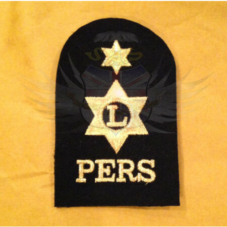 img-ROYAL NAVY SURPLUS ISSUE ABLE RATE PERS TRADE QUALIFICATION PATCH GOLD ON BLACK