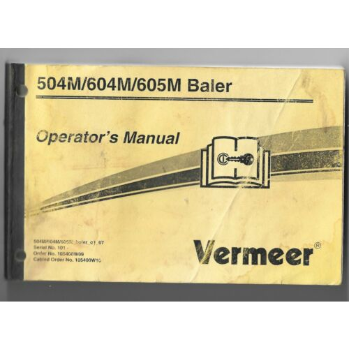 original-oem-oe-vermeer-models-504m-604m-605m-baler-operators-manual-105400w09