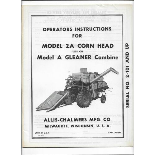 original-allis-chalmers-operators-manual-2a-corn-head-used-on-a-gleaner-combine