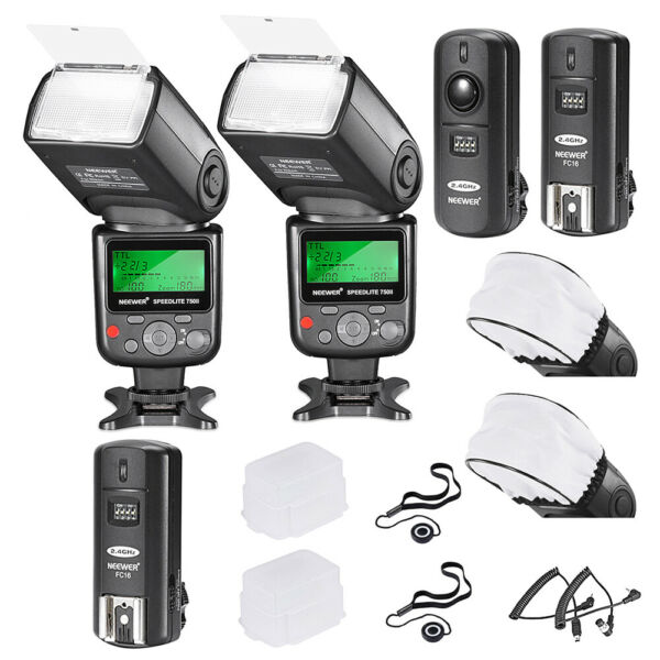 Neewer Kit Speedlite Flash i-TTL 750II per fotocamera DSLR Nikon
