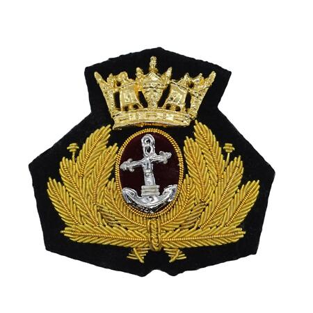 img-Merchant Navy Beret Badge, Officers, Bombay Style R2208