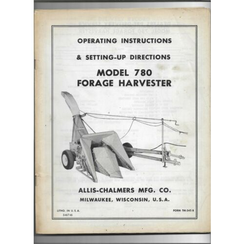 original-allis-chalmers-780-forage-harvester-operating-and-settingup-directions