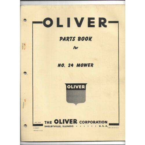 original-oem-1957-oliver-number-24-mower-parts-book-catalog-form-number-c3845y