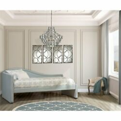 Hillsdale Olivia Upholstered Twin Daybed in Gray and Pale Blue